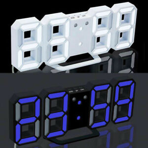 8-Shape-3D-LED-Modern-Digital-12-24Hour-Table-Desk-Alarm-Clock-Wall-Decoration