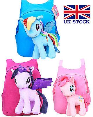 My Little Pony 3D Bag Plush Toy Soft Backpack Schoolbag Cartoon Kids
