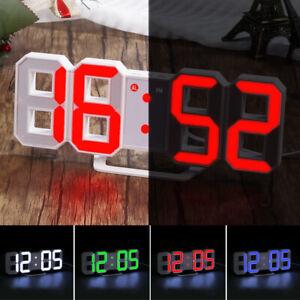 Digital-LED-3D-Display-Clock-Alarm-Desk-Wall-Brightness-Snooze-USB-Home-Decor