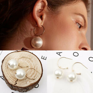 Fashion-Women-Pearl-Circle-Statement-Geometric-Drop-Dangle-Earrings-Jewelry