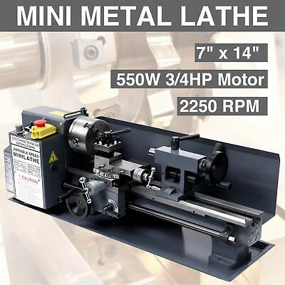 7 x 14 Inch 0.01mm Precision Variable-speed Mini Metal Lathe 550W 2250 RPM 7/'/'x 14/'/'