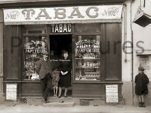 Photo ancien commerce de toulouse bureau de tabac tirage repro an