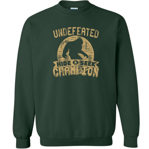 487 Undefeated Hide and Seek Champion Crew Sweatshirt sasquatch big foot new
