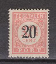 P40 Port nr 40 ongebruikt MLH Nederlands Indie Indonesia due portzegel