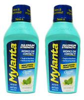 2 Pack Mylanta Max Strength Antacid Anti Gas Heartburn Classic 12oz 819903010289