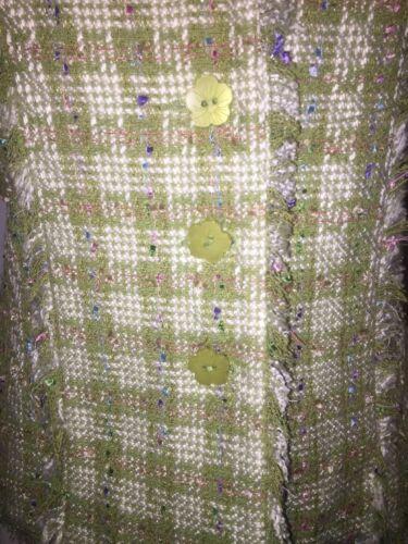 Plaid Vert M Fantaisie Taille Little Blazer Carole Veste Citron Tweed OYwSxxPq5
