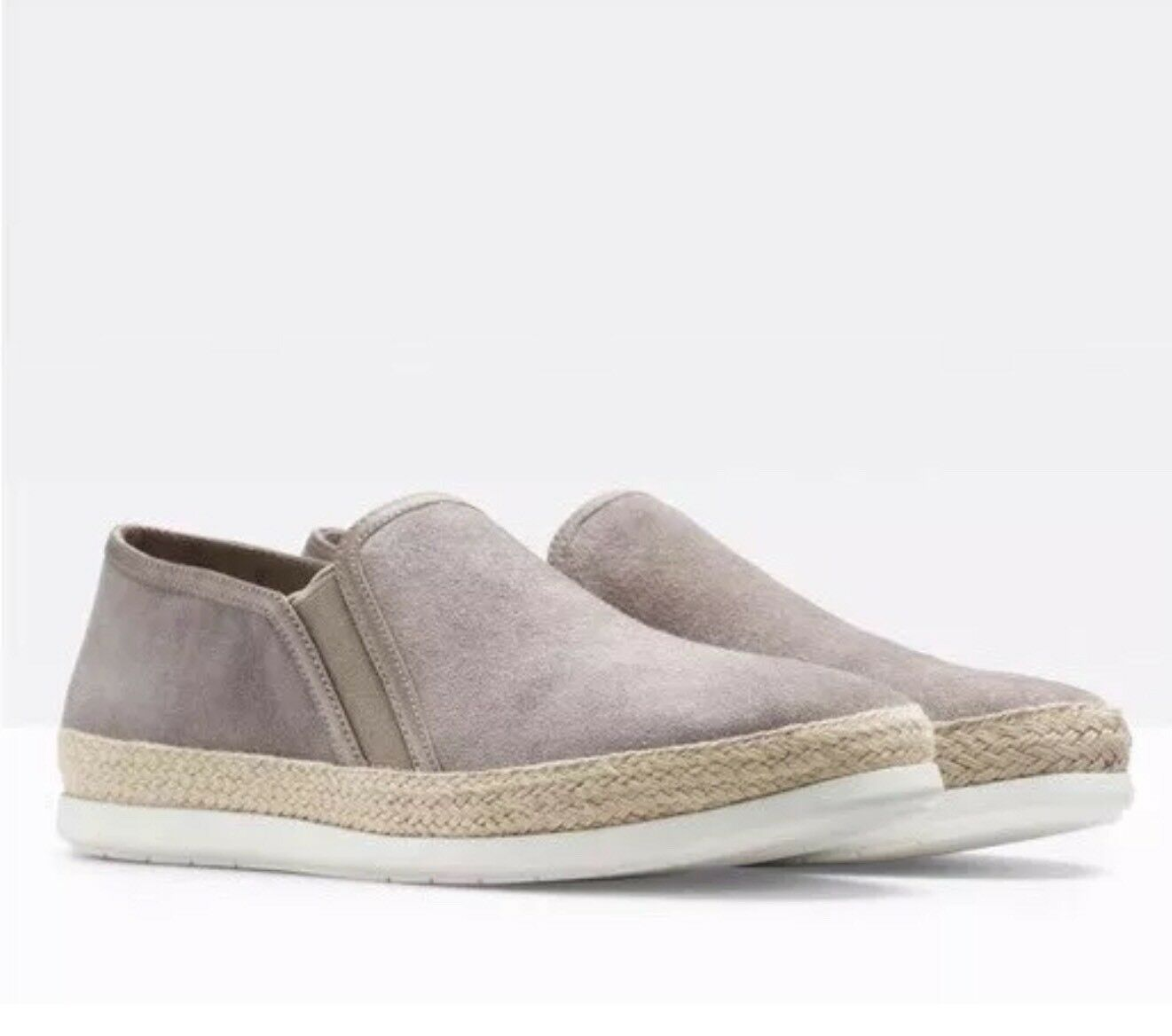 Vince Acker Cuir Slip On baskets Chaussures Lumière Woodsmoke Taille 9 Neuf  225