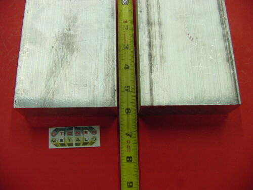 """7 pieces 1-1//4/"""" X 6/"""" ALUMINUM 6061 FLAT BAR 6/"""" long Solid T6511 Plate Mill Stock"""