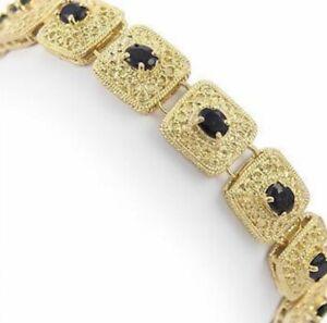 Stunning-7-0-TCW-Sapphire-Bracelet-with-18k-Yellow-Gold