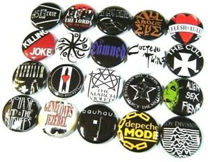 BB020878 /'Gothic Teacup/' Button Pin Badges