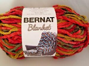 Details about Bernat Blanket plush yarn, Harvest, 1 large skein (258 yds)