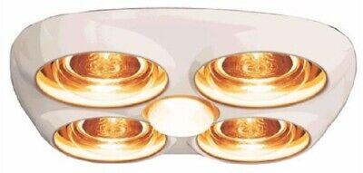 HPM 3-IN-1 BATHROOM HEAT LAMP LIGHT & EXHAUST FAN 4x275W ...