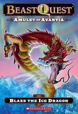 Beast Quest #23: Amulet of Avantia: Blaze the Ice Dragon-ExLibrary