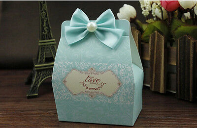 100pcs Pearl Sweet Love Wedding Birthday Favor Party Boxes Gift Candy Box Bags