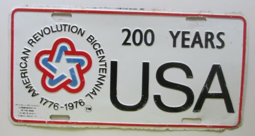 1970/'s AMERICAN REVOLUTION BICENTENNIAL USA 200 YEARS BOOSTER License Plate