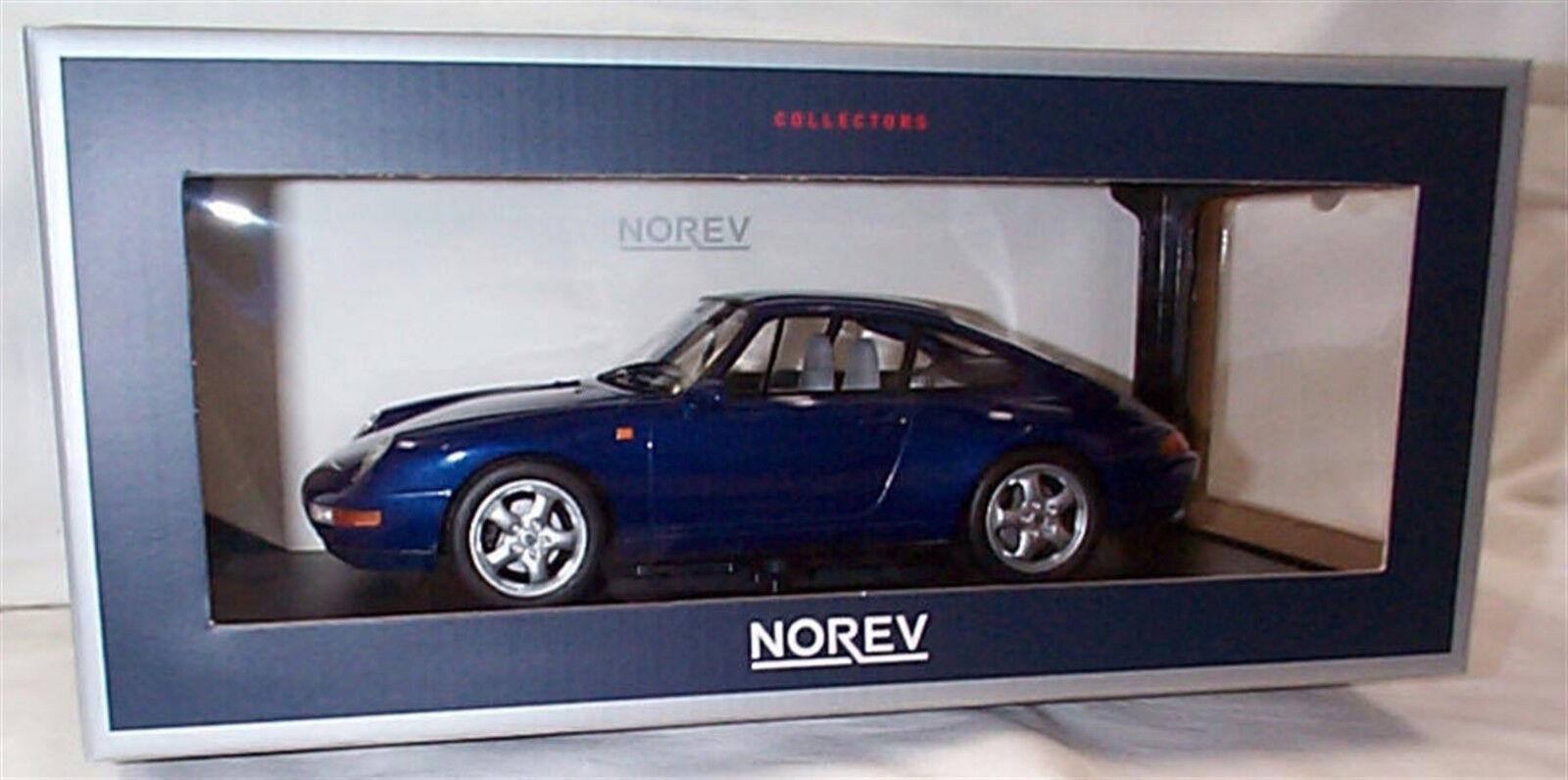 PORSCHE 911 CARRERA 1993 bleu Metallic 1 18 scale NEW Dans Box