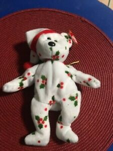 Ty Beanie Baby  Rare 1998 Holiday Teddy w/ ERRORS.  Retired/MWTS!
