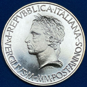 1981-Italy-Death-of-Virgil-500-AG-Lira-KM-110-UNC-BLAST-WHITE-AS-FROM-THE-MINT