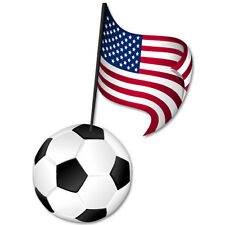 "USA US Soccer national team car bumper sticker 3"" x 5"""
