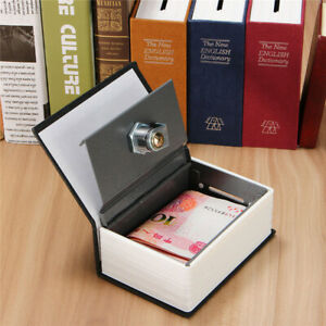 Details About Secret Dictionary Book Safe Jewellery Money Cash Box Security Safety Key Lock