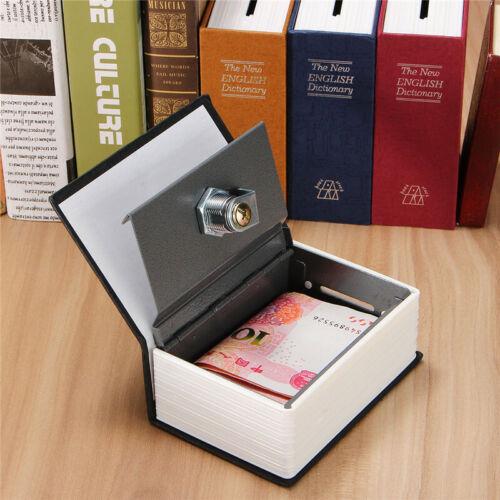 Secret Dictionary Book Safe Jewellery Money Cash Box Security Safety Key Lock G