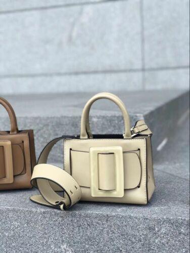 Bobby Oversize Buckle Belt Box Tote Bag Small Mini Crossbody Genuine Leather PU
