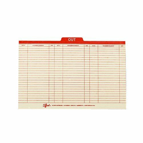 Smead 53910 Manila Out Guides With Printed Form Style - Legal - 8.50  X 14  - 1