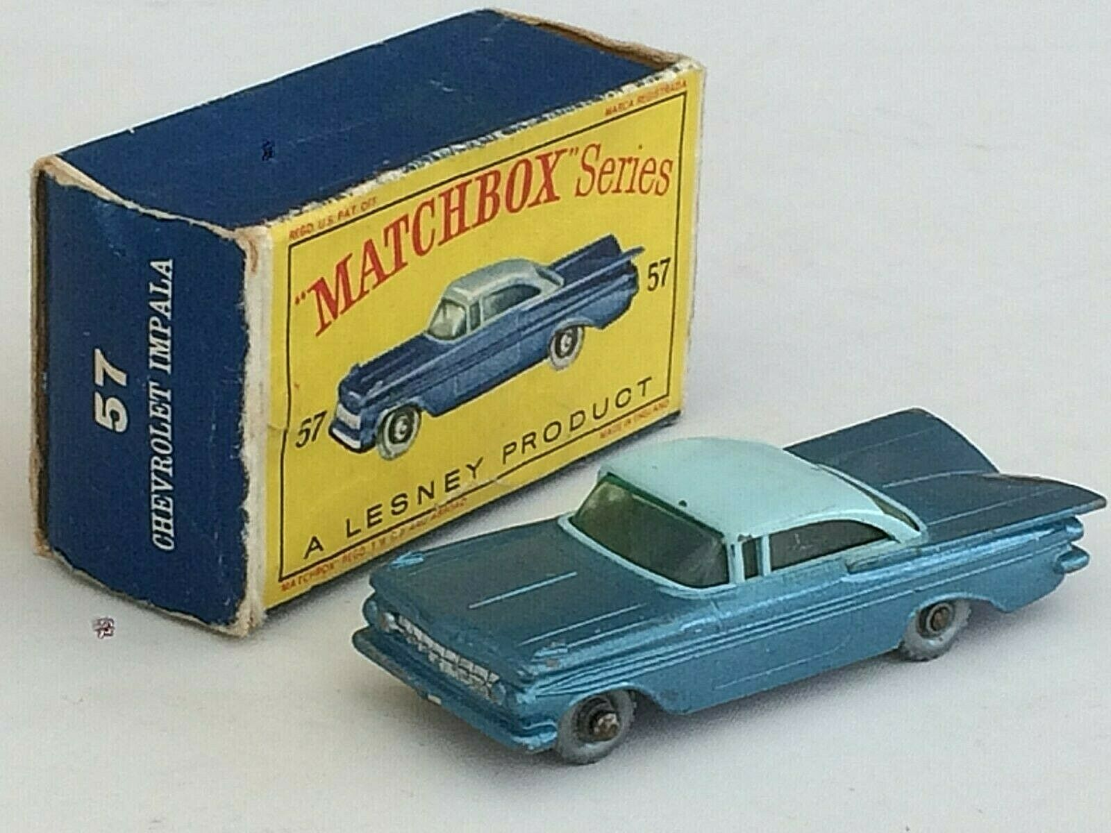 MATCHBOX No 57 - CHEVROLET IMPALA - ALMOST MINT AND BOXED