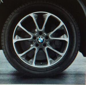 Bmw F15 X5 Genuine Gloss Turned Star Spoke 449 19 Quot Wheel Set Wheels New 2014 Ebay