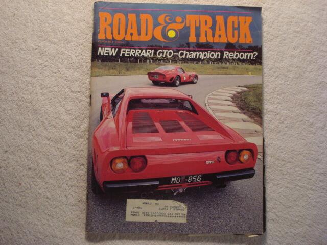 Road & Track 1984 August Ferrari GTO Chevrolet Sprint Porsche Nissan 300 ZX