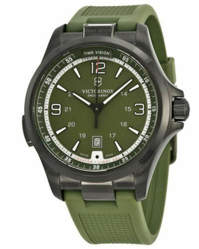 Swiss Army Victorinox 241595 Mens Night Vision Light Green Dress Watch for  sale online  0bc9c34566
