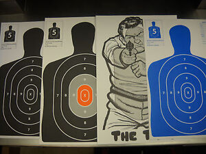 120-Variety-Pack-Silhouette-pistolet-fusil-Paper-Shooting-Targets-12X18-11x17