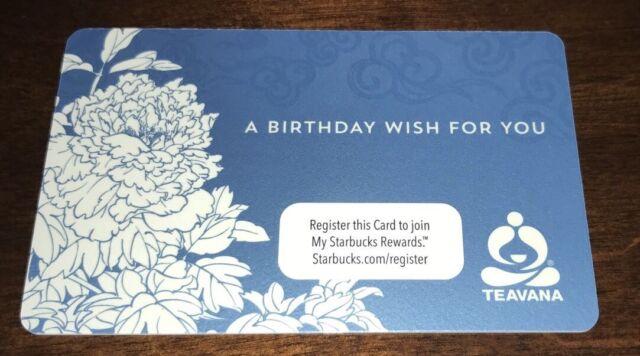 Teavana Us Starbucks Gift Card A Birthday Wish For You No Value
