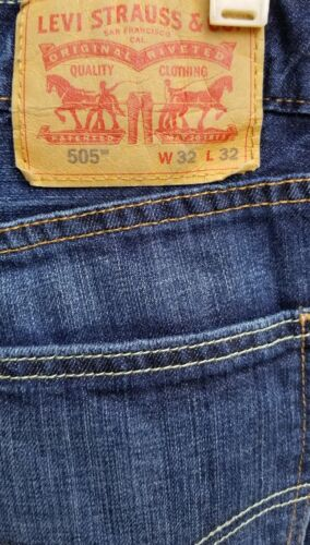 Levi's Straight 32x32 505 32 Taille X Jeans Levis qqrBWPcS