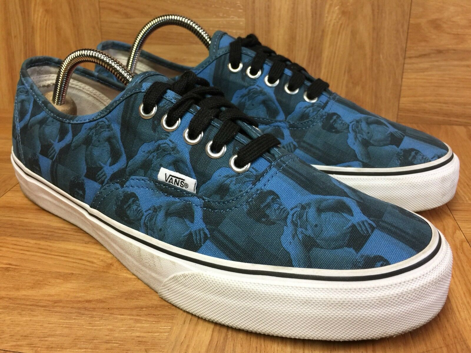 RARE VANS x Supreme BRUCE LEE Authentic Sneakers Sz 9 Men's Vintage shoes LE