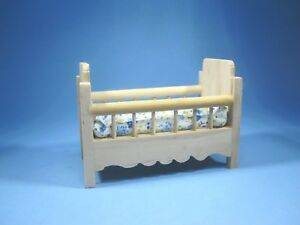 Image Is Loading Miniature Unfinished Wood Baby Doll Crib Bed Furniture