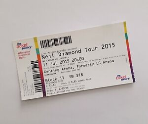 Neil Diamond Tickets Mint Condition Ticket S Birmingham 11 07 15 Memorabilia Ebay
