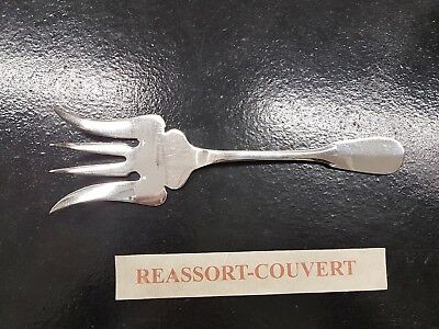 Antiques 100% True Fork Fish Service Ercuis Old Paris 9 1/8in Good Condition Silver 1212 17 Removing Obstruction
