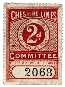 I-B-Cheshire-Lines-Committee-Railway-Newspaper-Parcel-2d