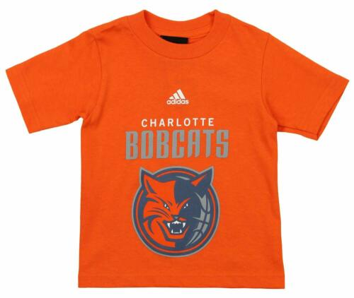 Adidas NBA Toddlers Charlotte Bobcats Short Sleeve Primary Logo Tee Orange