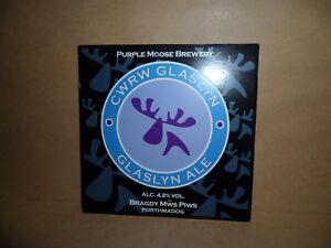 PURPLE-MOOSE-BREWERY-GLASLYN-ALE-Beer-Ale-Beer-Pump-Clip-MAN-CAVE