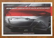2016 2017 Mazda MX-5 MX5 Miata Accessories catalog sales brochure