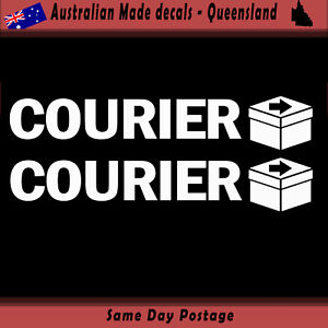 Vinyl-Car-Sticker-Courier-sticker-Set-of-2-Freight-Delivery