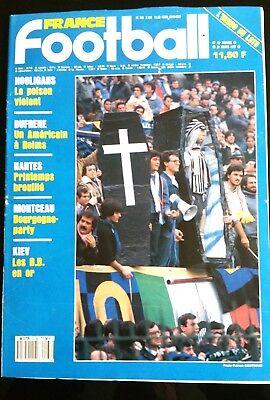 France Football 31/3/1987; Hooligans/ Dufrène/ Montceau/ Kiev/ Naples-juve