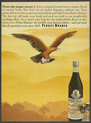 Fernet Branca Embroidered Patch F029P  Amaro Herbal Liqueur