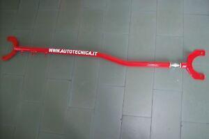 Barra-duomi-anteriore-Lancia-Delta-Integrale-16-valvole-acciaio-regolabile-rossa