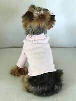 M Pink And Lace Dog Turtleneck Shirt Clothes Pet Clothing Medium Pc Dog®