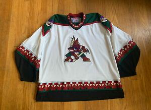 Phoenix-Coyotes-Vintage-90-s-Stitched-CCM-Away-Jersey-XXL-Rare-NHL