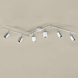 Wofi-Led-Lampara-de-Techo-Port-6-Luces-Aluminio-Cepillado-Ajustable-24W