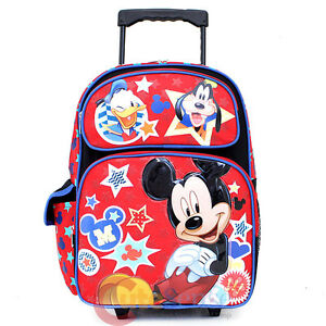 9164b310dc1 Image is loading Mickey-Mouse-Friends-Large-School-Roller-Backpack-16-